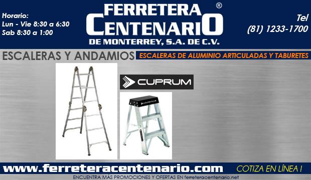 escaleras de aluminio articuladas y taburetes andamios ferretera centenario de monterrey mexico