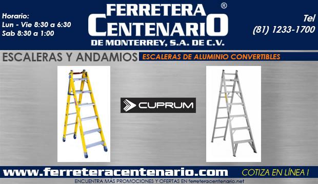 escaleras andamios convertibles aluminio ferretera centenario de monterrey mexico