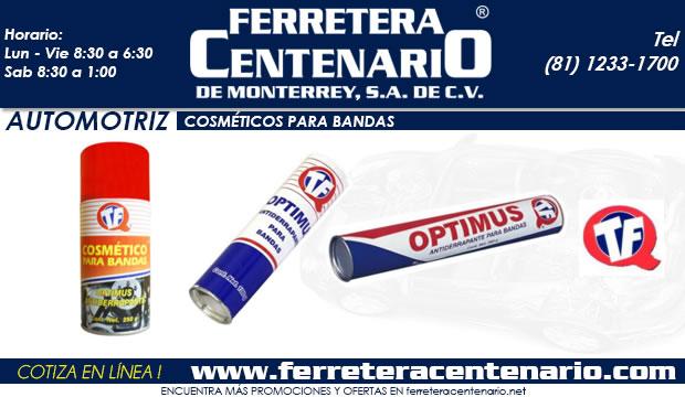 cosmeticos para bandas automotrices ferretera centenario de monterrey mexico