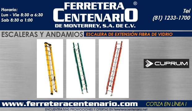 escalera de extension fibra de vidrio ferretera centenario de monterrey mexico