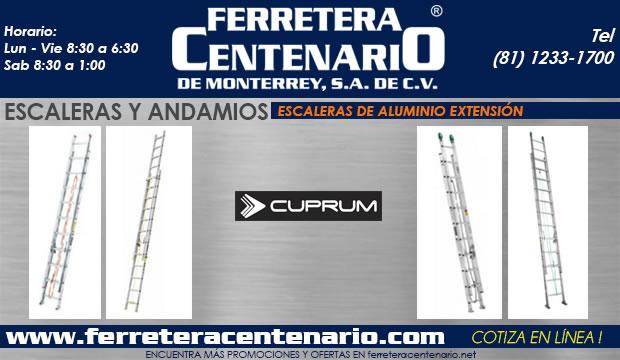 escalera andamios de aluminio extension ferretera centenario de monterrey mexico