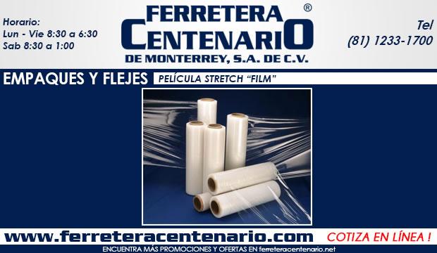 empaques y flejes pelicula stretch film ferretera centenario de monterrey