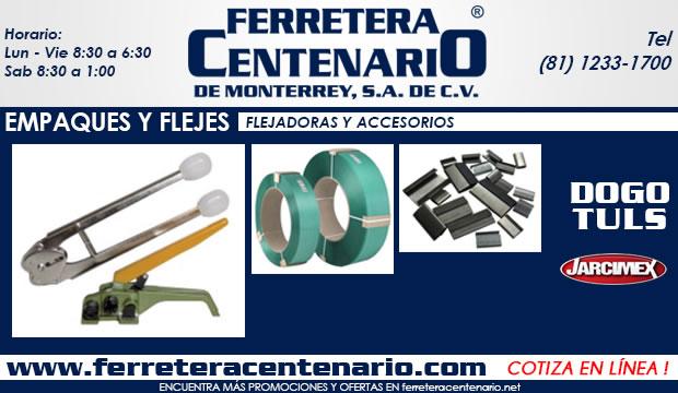 flejadoras y accesorios ferretera centenario demonterrey empaques