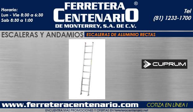 escaleras de aluminio rectas ferretera centenario de monterrey mexico andamios cuprum