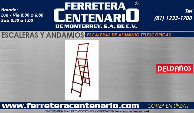 escaleras de aluminio telescopicas ferretera centenario de monterrey mexico Peldaño