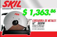 Cortadora de metales marca Skil a un excelente precio