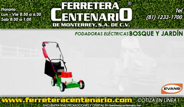 podadoras electricas ferretera centenario de monterrey mexico