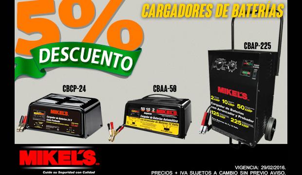 cargadores de bateria mikels oferta descuento ferretera centenario de monterrey mexico