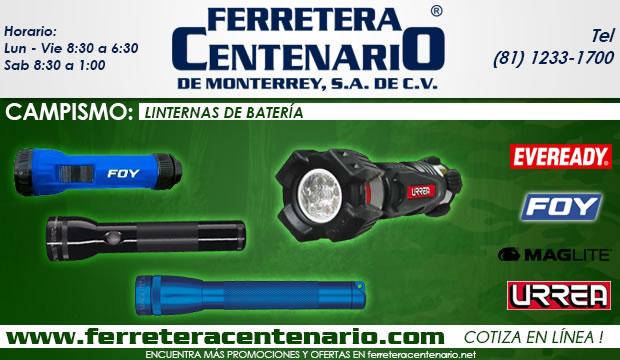 linternas de baterias ferretera centenario de monterrey