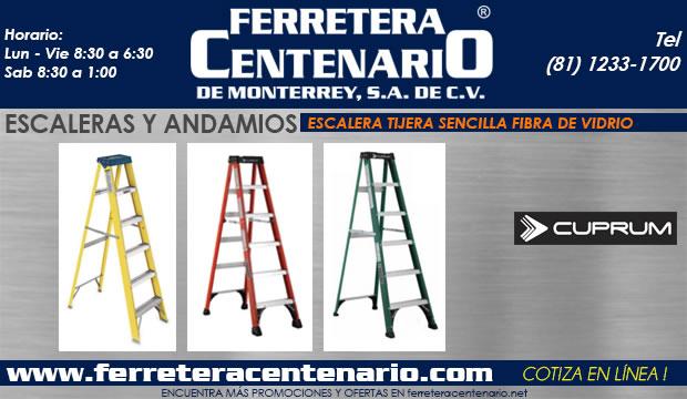 tijera sencilla de fibra de vidrio ferretera centenario de monterrey mexico
