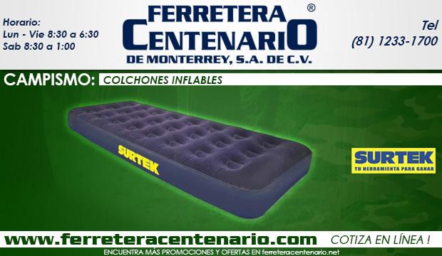 colchones inflables Surtek ferretera centenario de monterrey campismo bosque y jardin mexico