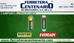 baterias de carbon ferretera centenario dem onterrey mexico eveready surtek