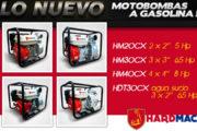 Nuevas motobombas a gasolina marca Hardmac