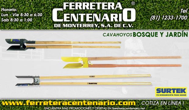 cavahoyos herramientas bosque jardin ferretera centenario demonterrey mexico