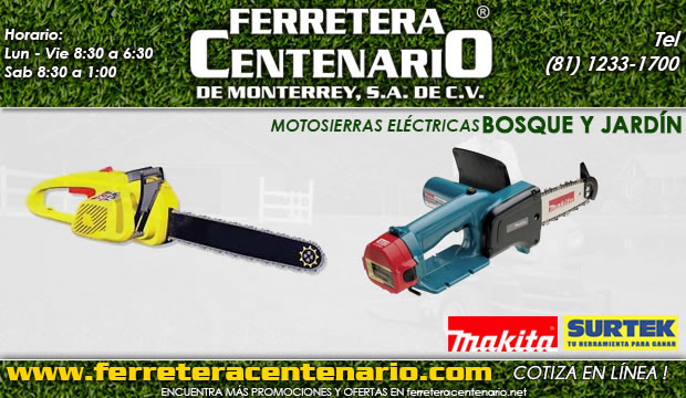 motosierras electricas ferretera centenario de monterrey mexico