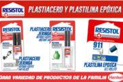 Plastiacero y plastilina epóxica marca Resistol