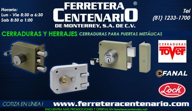 cerraduras puertas metalicas ferretera centenario de monterrey mexico