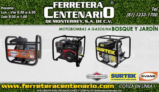 motobombas a gasolina ferretera Centenario de monterrey bosque jardin herramientas