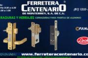Cerraduras para puertas de aluminio