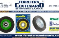 Cepillos de alambre acero al carbón circulares ondulados