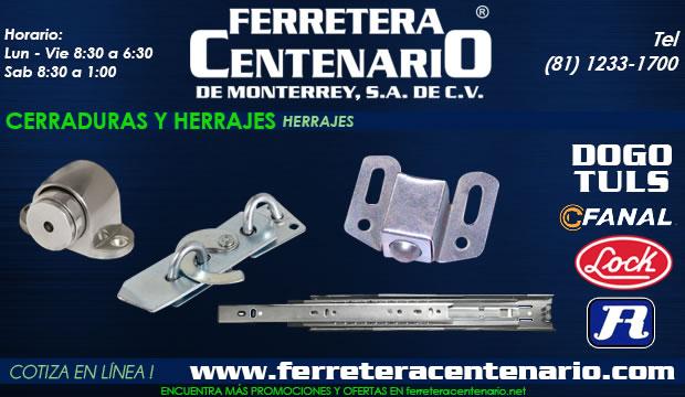 herrajes cerraduras ferretera centenario monterrey mexico