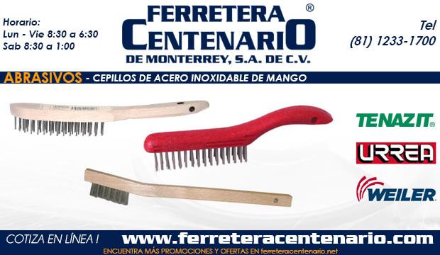 cepillos acero inoxidable mango ferretera centenario monterrey mexico abrasivos