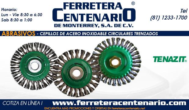 cepillos acero inoxidable circulares trenzados ferretera centenario monterrey mexico abrasivos