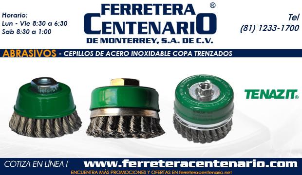 cepillo acero inoxidable copa trenzado ferretera centenario monterrey mexico abrasivos