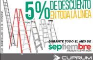 Escaleras CUPRUM con descuento en todo el mes de Septiembre 2016