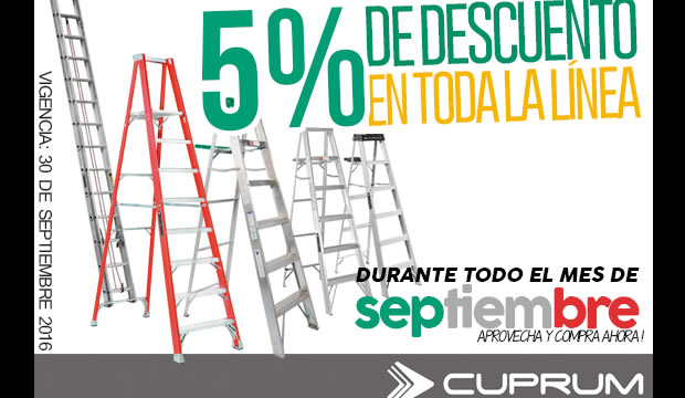escaleras cuprum septiembre ofertas descuentos ferretera centenario monterrey