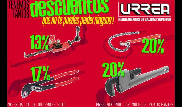 Aprovecha los descuentos que tenemos para tí este mes en los producto URREA