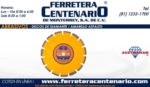 discos diamante amarillo asfalto ferretera centenario monterrey abrasivos mexico