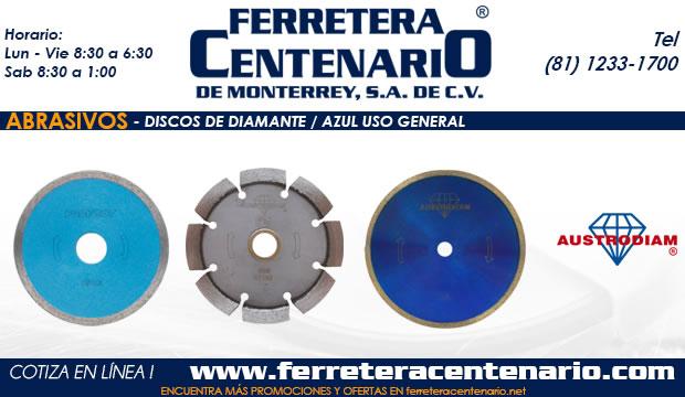 discos de diamante azul uso general ferretera centenario monterrey mexico