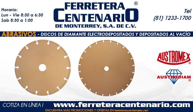 discos diamante electrodepositados y depositados vacio ferretera centenario monterrey mexico abrasivos