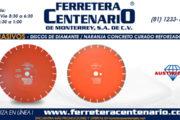 Discos de diamante -naranja para concreto curado reforzado