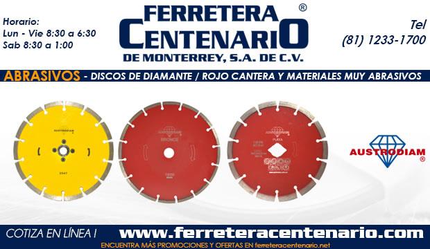 discos diamante cantera rojo materiales abrasivos ferretera cnetenario monterrey mexico