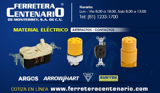 material electrico artefactos contactos ferretera centenario monterrey mexico