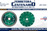 Discos de diamante verde granito y materiales muy duros