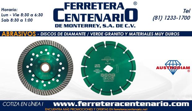 discos diamanre abrasivos verde granito materiales duros ferretera centenario de monterrey