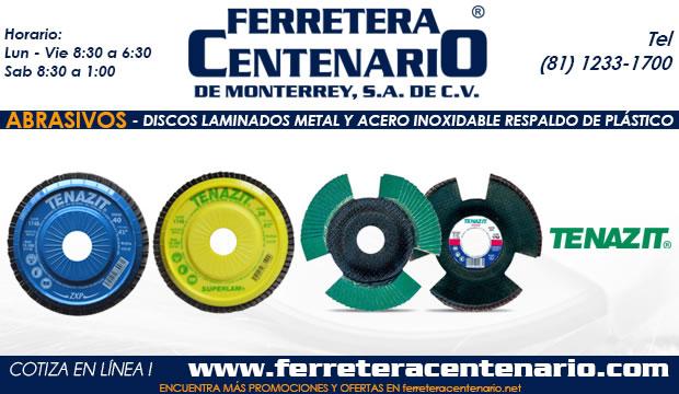 discos laminados acero y metal inoxidable respaldo plastico ferretera centenario de monterrey mexico abrasivos