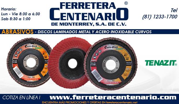 discos acero inoxidable metal laminados curvos