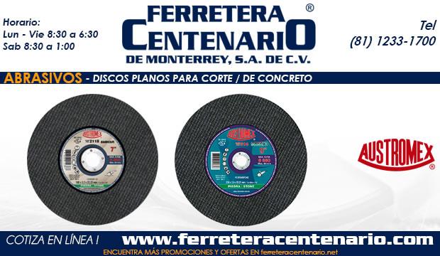 discos planos para corte de concreto ferretera centenario monterrey mexico
