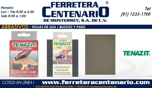 hojas de lija blocks pads ferretera centenario monterrey mexico abrasivos