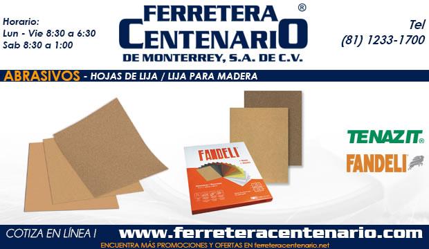 hojas de lija para madera ferretera centenario monterrey mexico abrasivos