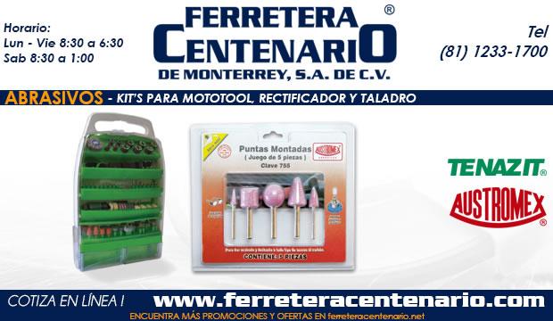 kits para mototools tools herramientas rectificador taladro abrasivos ferretera centenario monterrey mexico