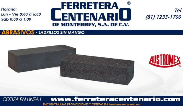 ladrillos sin mango ferrretera centenario monterrey mexico abrasivos