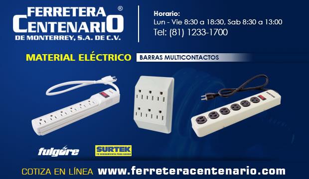barras multicontactos material electrico ferretera centenario monterrey mexico