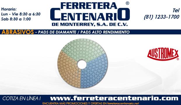 pads diamante alto rendimiento abrasivos ferretera centenairo monterrey mexico