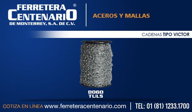 cadenas aceros mallas tipo victor ferretera centenario monterrey mexico