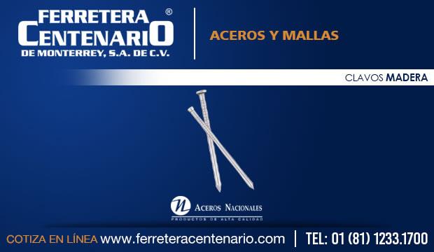 clavos para madera aceros mallas ferretera centenario monterrey mexico
